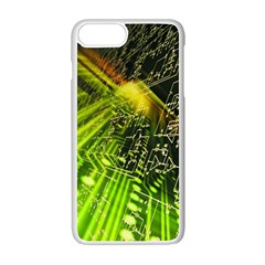 Electronics Machine Technology Circuit Electronic Computer Technics Detail Psychedelic Abstract Patt Apple Iphone 7 Plus White Seamless Case