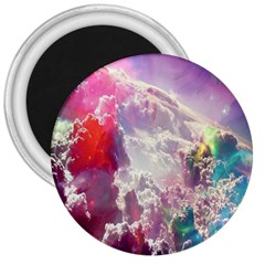 Clouds Multicolor Fantasy Art Skies 3  Magnets by BangZart