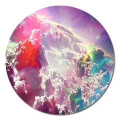 Clouds Multicolor Fantasy Art Skies Magnet 5  (round)