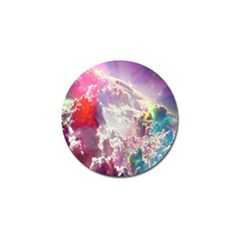 Clouds Multicolor Fantasy Art Skies Golf Ball Marker by BangZart