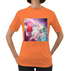Clouds Multicolor Fantasy Art Skies Women s Dark T Shirt by BangZart