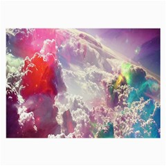 Clouds Multicolor Fantasy Art Skies Large Glasses Cloth