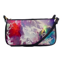 Clouds Multicolor Fantasy Art Skies Shoulder Clutch Bags by BangZart