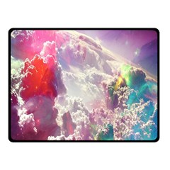 Clouds Multicolor Fantasy Art Skies Double Sided Fleece Blanket (small)
