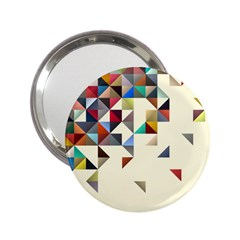 Retro Pattern Of Geometric Shapes 2 25  Handbag Mirrors by BangZart
