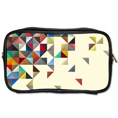 Retro Pattern Of Geometric Shapes Toiletries Bags 2 Side