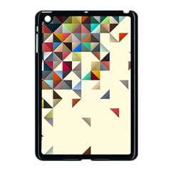 Retro Pattern Of Geometric Shapes Apple Ipad Mini Case (black)