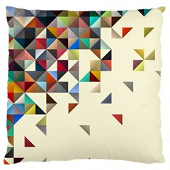 Retro Pattern Of Geometric Shapes Large Flano Cushion Case (two Sides)