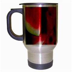 Fresh Watermelon Slices Texture Travel Mug (silver Gray) by BangZart
