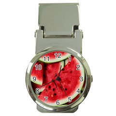 Fresh Watermelon Slices Texture Money Clip Watches by BangZart