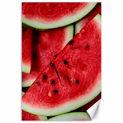 Fresh Watermelon Slices Texture Canvas 24  X 36  by BangZart