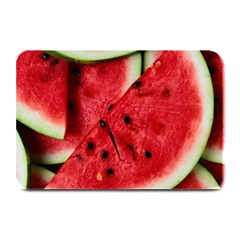 Fresh Watermelon Slices Texture Plate Mats by BangZart