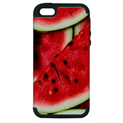 Fresh Watermelon Slices Texture Apple Iphone 5 Hardshell Case (pc+silicone) by BangZart