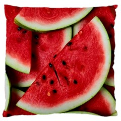 Fresh Watermelon Slices Texture Large Flano Cushion Case (two Sides) by BangZart