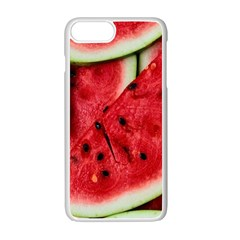 Fresh Watermelon Slices Texture Apple Iphone 7 Plus White Seamless Case by BangZart
