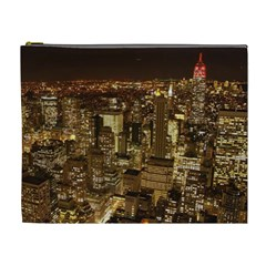 New York City At Night Future City Night Cosmetic Bag (xl) by BangZart