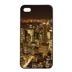 New York City At Night Future City Night Apple Iphone 4/4s Seamless Case (black)