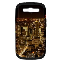 New York City At Night Future City Night Samsung Galaxy S Iii Hardshell Case (pc+silicone)