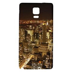 New York City At Night Future City Night Galaxy Note 4 Back Case by BangZart