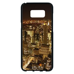 New York City At Night Future City Night Samsung Galaxy S8 Plus Black Seamless Case by BangZart