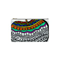 Abstract Apple Art Colorful Cosmetic Bag (small)  by Nexatart