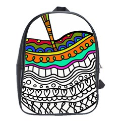 Abstract Apple Art Colorful School Bags(large)  by Nexatart