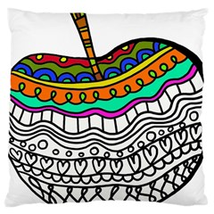 Abstract Apple Art Colorful Large Cushion Case (two Sides) by Nexatart
