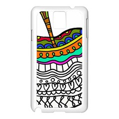 Abstract Apple Art Colorful Samsung Galaxy Note 3 N9005 Case (white)
