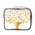 Abstract Book Floral Food Icons Mini Toiletries Bags Front