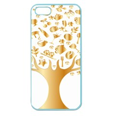 Abstract Book Floral Food Icons Apple Seamless Iphone 5 Case (color) by Nexatart