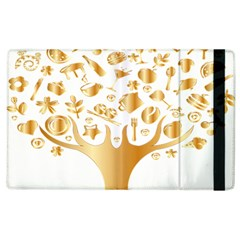 Abstract Book Floral Food Icons Apple Ipad 2 Flip Case