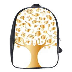 Abstract Book Floral Food Icons School Bags (xl)  by Nexatart