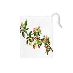 Apple Branch Deciduous Fruit Drawstring Pouches (small)  by Nexatart