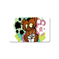 Bear Cute Baby Cartoon Chinese Magnet (name Card) by Nexatart