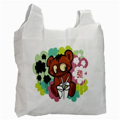 Bear Cute Baby Cartoon Chinese Recycle Bag (one Side) by Nexatart