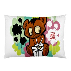 Bear Cute Baby Cartoon Chinese Pillow Case (two Sides) by Nexatart