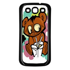 Bear Cute Baby Cartoon Chinese Samsung Galaxy S3 Back Case (black) by Nexatart