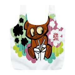 Bear Cute Baby Cartoon Chinese Full Print Recycle Bags (l)  by Nexatart