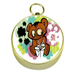 Bear Cute Baby Cartoon Chinese Gold Compasses