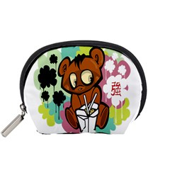 Bear Cute Baby Cartoon Chinese Accessory Pouches (small)  by Nexatart