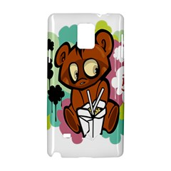 Bear Cute Baby Cartoon Chinese Samsung Galaxy Note 4 Hardshell Case