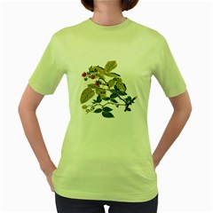 Berries Berry Food Fruit Herbal Women s Green T Shirt