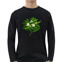 Bitter Branch Citrus Edible Floral Long Sleeve Dark T-shirts by Nexatart