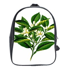 Bitter Branch Citrus Edible Floral School Bags(large)  by Nexatart