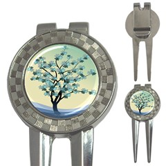 Branches Field Flora Forest Fruits 3 In 1 Golf Divots by Nexatart