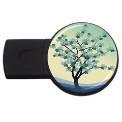 Branches Field Flora Forest Fruits Usb Flash Drive Round (2 Gb) by Nexatart