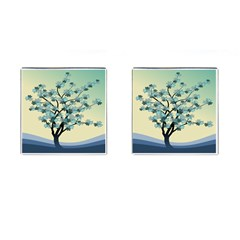 Branches Field Flora Forest Fruits Cufflinks (square) by Nexatart