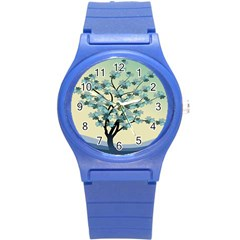 Branches Field Flora Forest Fruits Round Plastic Sport Watch (s)