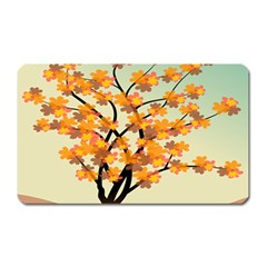 Branches Field Flora Forest Fruits Magnet (rectangular)