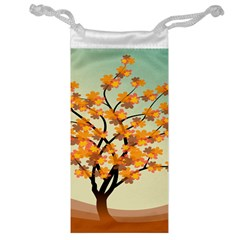 Branches Field Flora Forest Fruits Jewelry Bag by Nexatart